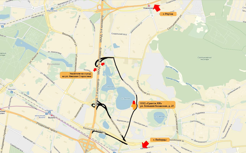 схема проезда москва - екатеринбург