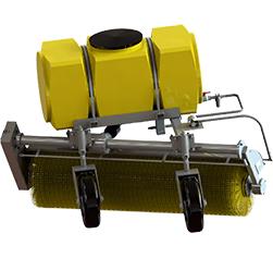 Щеточное оборудование с системой увлажнения